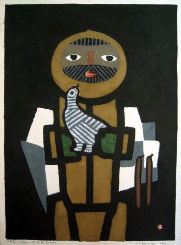 AZECHI,Umetaro [Mountainer and bird]