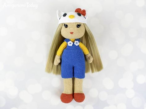 PDF Pattern Amigurumi Hello Kitty in Ox Costume / by furinn, $5.50 ... | 355x473