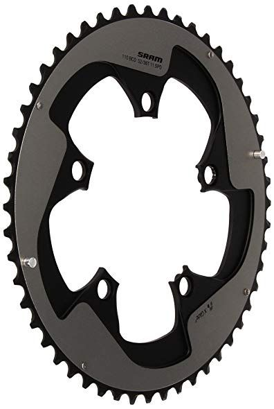 USAmade Oval SHARKTOOTH 110BCD 4-Bolt CNC Machined Alloy Black Road//Cross Chainring Increased Power Output New