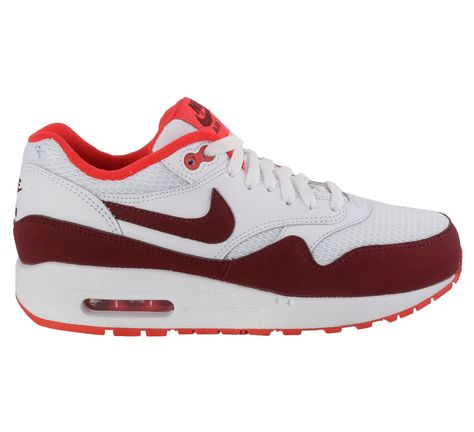 Coole Nike Air Max 1 Essential Sneakers Dames (wit rood