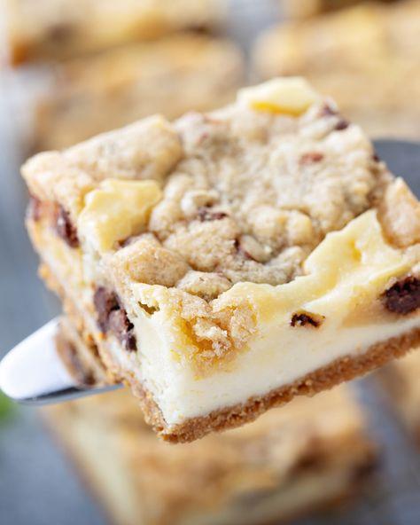 Cookie Dough Cheesecake Bars Recipe   My Baking Addiction
