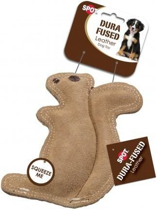 Spot Dura Fused Leather Jute Squirrel Dog Toys Girl Dog