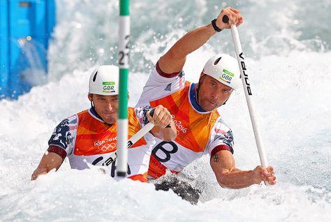 David Florence and Richard Hounslow, canoe slalom double (c2) - silver medalist