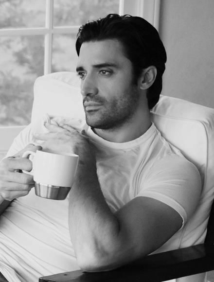 Gilles Marini....he can say anything to me and I'd believe it!