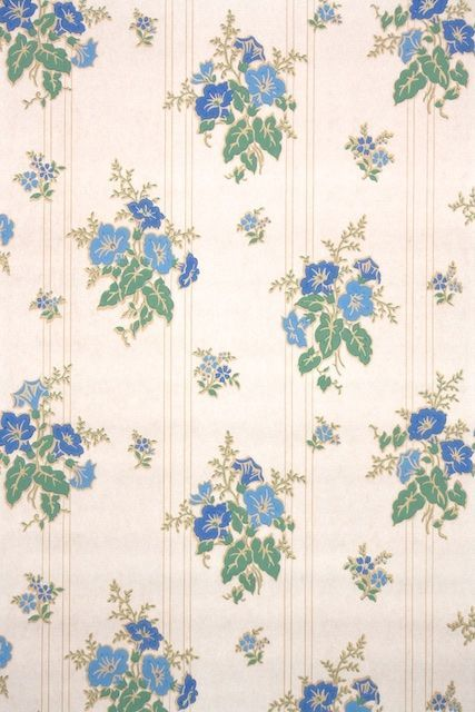 Antique Wallpaper From The 40s Authentic Vintage Wallpaper From Hannah S Treasures Floral Antique Wallpaper Wallpaper Design Pattern Wallpaper Bedroom Vintage