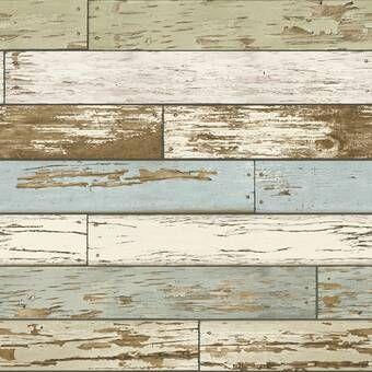 18 L X 20 5 W Beachwood Peel And Stick Wallpaper Roll Reviews Joss Main Distressed Wood Wallpaper How To Distress Wood Wood Wallpaper