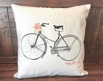vintage bicycle pillow bike pillow