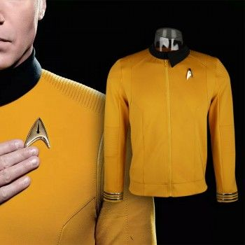 Star Trek TOS Captain Kirk Uniform Shirt Yellow shirt cotton Cosplay Costume