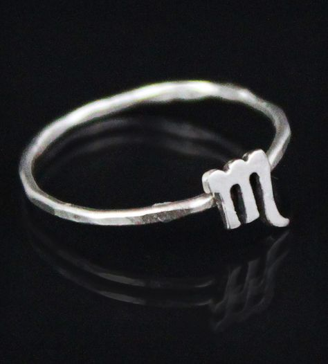 scorpio sign zodiac il c ring etsy horoscope signet jewelry rings astrology