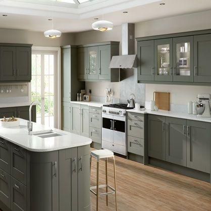 Gresham Olive Matt Finish Kitchen Doors Made To Measure Kitchen Doors Door Sample Kitche Kitchen Refurbishment Luxury Kitchen Design Modern Kitchen Design