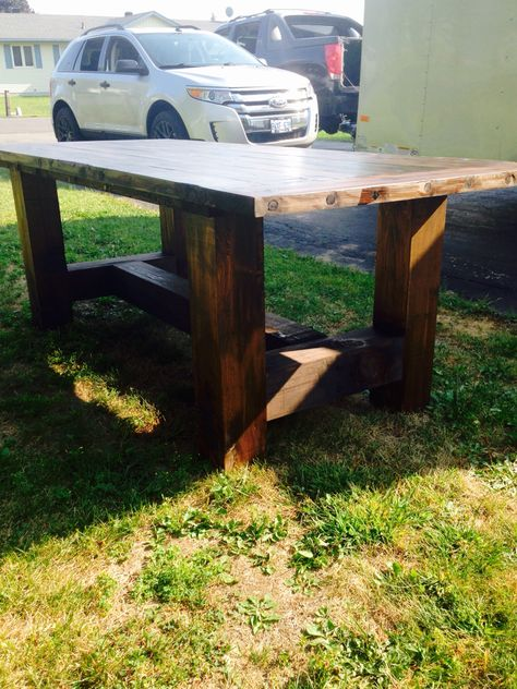 6x6 legged table farm table in 2019 woodworking projects wood rh pinterest com