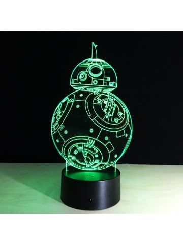 Yeduo 7 Color Holiday Atmosphere Decorative Kids Gift Robot 3d Ilusion Lamp Light Lighting Gadget Led Night Li 3d Led Night Light Star Wars Lamp Led Night Lamp