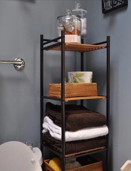 Sauder Caraway Floor Cabinet In Soft White Small Space Bathroom Bathroom Shelving Unit Small Bathroom