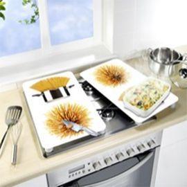 Plaque De Protection Verre Trempe Decor Spaghetti En 2020 Verre Trempe Decoration Et Verre