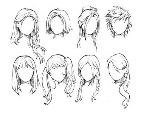 Drawing Tutorial Hair Girls Anime Hairstyles 50 Ideas Drawing Hair Tutorial Girl Hair Drawing Manga Hair