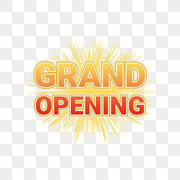 Banner Grand Opening Text Grand Opening Opening Soon Png And Vector With Transparent Background For Free Download Grand Opening Banner Advertising Banner