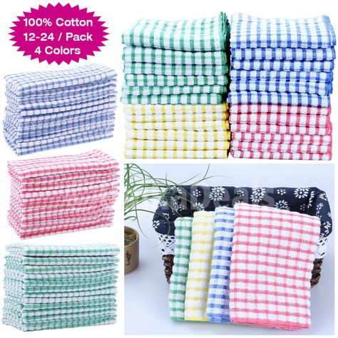 Kitchen Towels Bulk Pantry Ideas Details About Absorbent Lot 100 Cotton Dish Cloths Set Cleaning Towel New Dishcloths Cooking