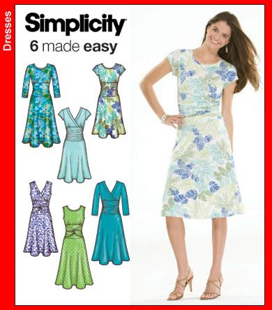 Simplicity 40 Misses Knit Dresses Best of 40 and Hall of Fame Best Simplicity Patterns Dresses