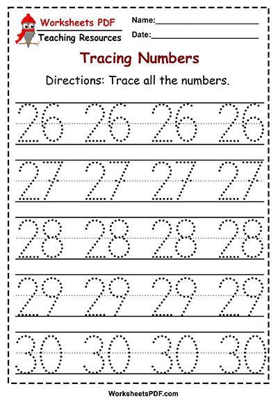 Numbers 1 50 Tracing Worksheets Worksheets Pdf Tracing Worksheets Preschool Math Worksheets Numbers Preschool Tracing numbers for kindergarten pdf