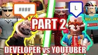 Worst Roblox Youtubers The Worst Jailbreak Players Ever Youtubers Vs Developers Part 2 Roblox Jailbreak Roblox Youtubers Development