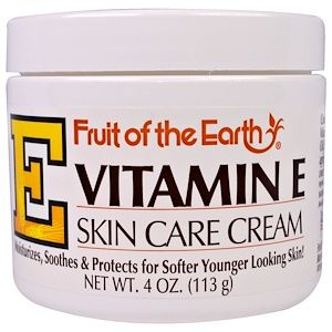 Fruit Of The Earth Vitamin E Skin Care Cream 4 Oz 113 G Skin Care Cream Homemade Wrinkle Cream Wrinkle Cream