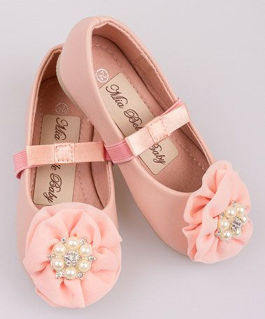 Loving this Pink Pearl Rosette Ballet Flat on #zulily! #zulilyfinds