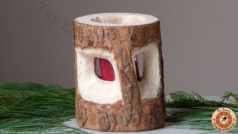 Rustic Pine Candle Holder | Woodworking | Gallery - Elderly Woodwright