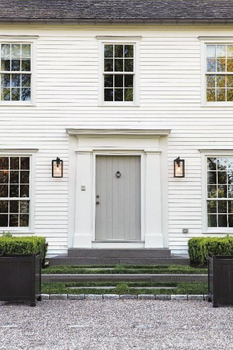 Sage Front Door Cream Colonial Slate Steps Green Beige And Taupe Farmhouse