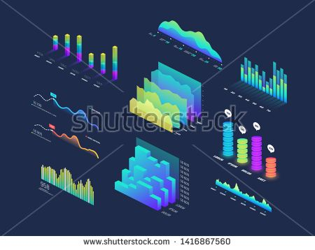 Stock Photo Future Tech 3d Isometric Data Finance Graphic