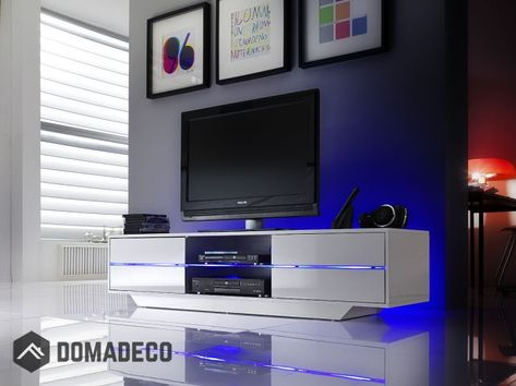 Blues Media Stand With Led Lights In 2018 Tv Stands Tvs Tv