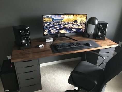 My Karlby Battlestation With Matte Polyurethane Finish