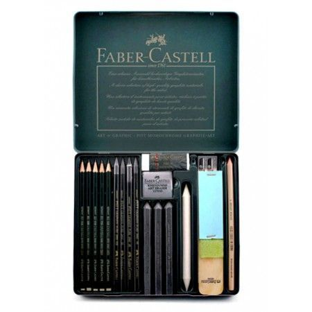The Faber Castell Pitt Graphite Set Contains About Everything That