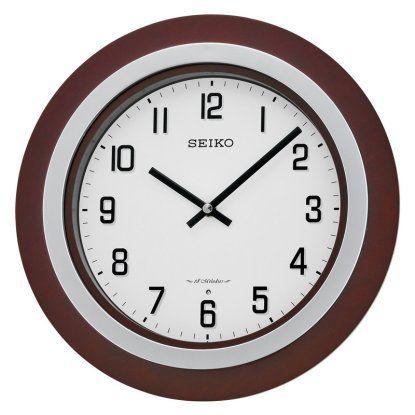 Seiko Round Musical Wall Clock Hayneedle Brown Clocks