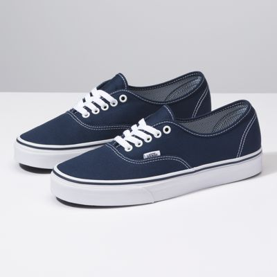 low top navy blue vans