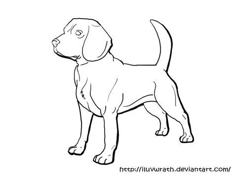 Beagle Lineart By Iluvwrath Dog Coloring Page Animal Coloring