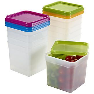 10 Stack A Boxes Food Storage Containers 1 2l In 2019 Plastic Food Containers Food Storage Boxes Food Containers