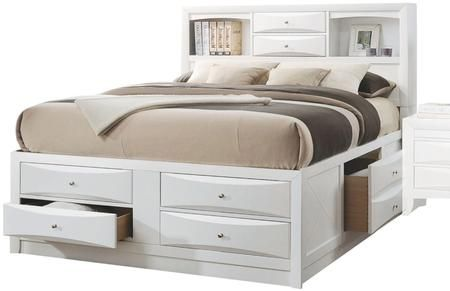 Ireland Collection 21710f Full Size Bed With Storage Drawers