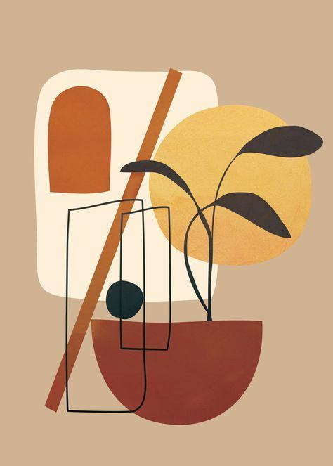 Abstract Shapes No.17 Art Print by cityart7