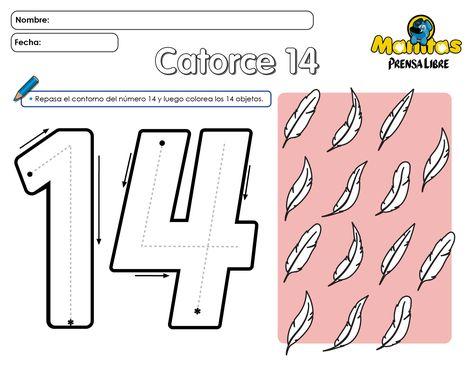 Número 14 Numeros Preschool