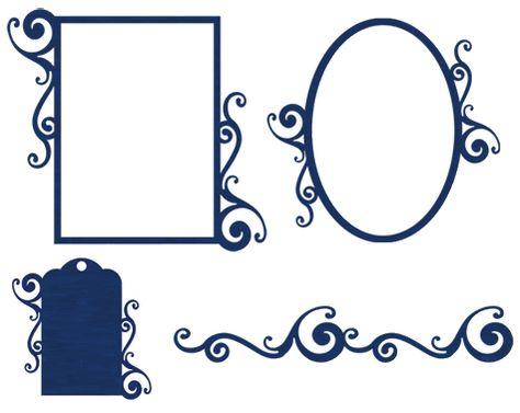 Brittany's SVG Files - frame tag border
