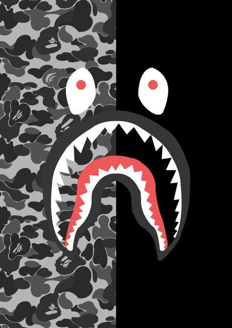 8c7822b3ea78 Resultado de imagen para bape shark logo