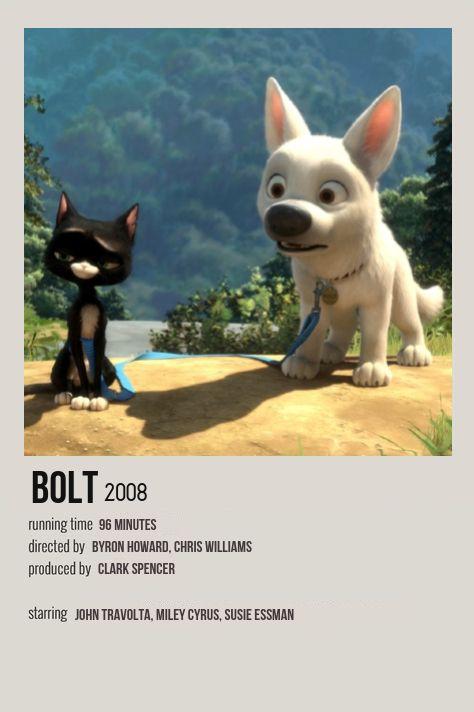 Bolt Minimalist Movie Poster