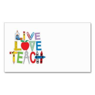 Apple and Letters Chalkboard School Teacher Business Card This