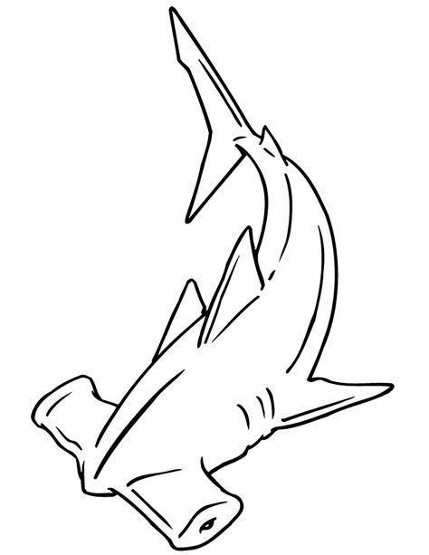 Realistic Shark Coloring Pages Haizeichnung Hammerhai Tattoo Hai Tattoos