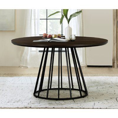 Williston Forge Tioga Dining Table In 2021 Metal Round Dining Table Round Extendable Dining Table Round Dining Table