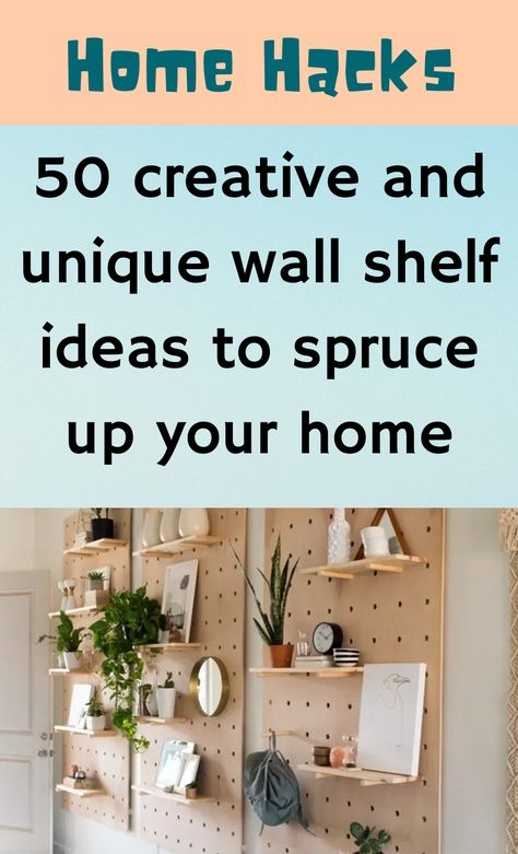 Life Hacks Home, Unique Wall Shelves, Everyday Hacks, Thing 1, Diy Cleaners, Shelf Ideas, Hacks Diy, Tiny Living, Cool Rooms