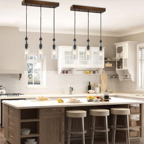 Light Kitchen Island Linear