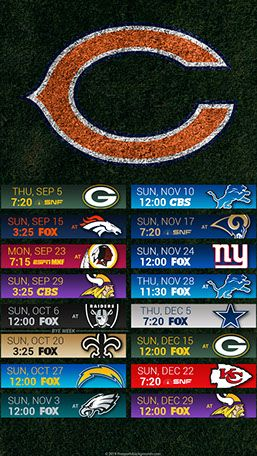Chicago Bears 2019 Mobile Field Nfl Schedule Wallpaper Chicago Bears Chicago Bears Wallpaper Chicago Bears Schedule
