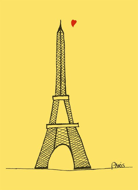 Paris Pen Drawing eiffeltower ★ iPhone wallpaper