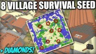 8 VILLAGE CLASSIC SURVIVAL SEED [ Showcase ] Minecraft Xbox